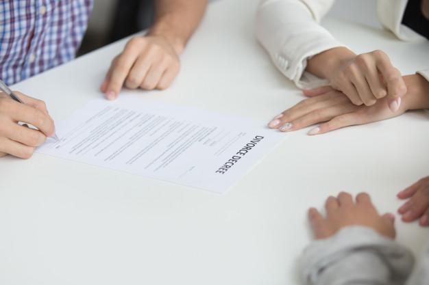Les formes juridiques de divorce